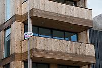 Nederland, Amsterdam, 20170511<br /> Nieuwbouwhuizen in Amsterdam Noord. Huizen zijn gebouwd op zgn vrije kavels, waar eigenaren binnen kaders hun huis zelf mogen (laten) ontwerpen. <br /> <br /> Foto: (c) Michiel Wijnbergh