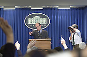 White House Press Secretary Ari Fleischer holds his first briefing of the new administration in the Brady Briefing Room at the White House in Washington, DC on January 22, 2001.<br /> Credit: Ron Sachs / CNP