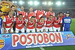 BOGOTÁ – COLOMBIA _ 24-01-2014 / En compromiso correspondiente a la primera jornada del Torneo Apertura Colombiano 2014, Independiente Santa Fe goleó 3 – 0 a Itagüí en juego que se llevó a cabo en el estadio Nemesio Camacho El Campín de Bogotá. / Nómina inicial de Santa Fe.