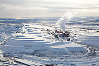 Aerial Views On Kiruna And The Kebnekaise Massif In Lapland/Sweden