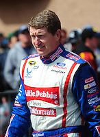Feb 24, 2008; Fontana, CA, USA; NASCAR Sprint Cup Series driver Bill Elliott during the Auto Club 500 at Auto Club Speedway. Mandatory Credit: Mark J. Rebilas-US PRESSWIRE