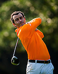 Ivan Ballesteros hits his shot during the Hyundai China Ladies Open 2014 on December 09 2014 at Mission Hills Shenzhen, in Shenzhen, China. Photo by Aitor Alcalde / Power Sport Images