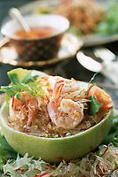 """Thailande/Bangkok: Salade de crevettes et pomelos recette du restaurant """"Sala Rim Naam"""" de l'Hotel Oriental"""