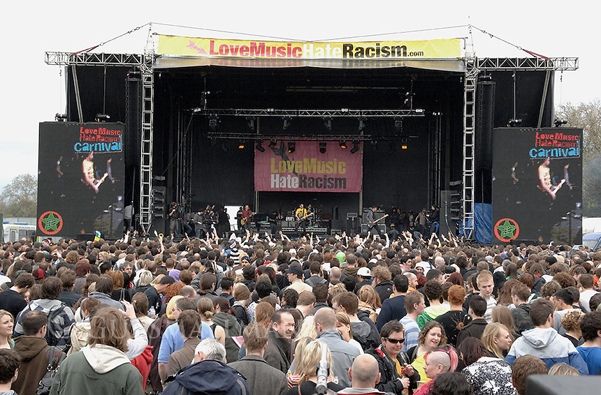 The RAR Carnival in Victoria Park. East London. The Carnival was a concert to mark the 30th anniversary of Rock against Racism in 1978.