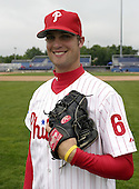 July 26, 2004:  Pitcher Andy Baldwin of the Batavia Muckdogs, Short-Season Single-A affiliate of the Philadelphia Phillies, during a game at Dwyer Stadium in Batavia, NY.  Photo by:  Mike Janes/Four Seam Images