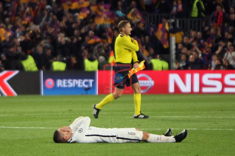 UEFA Champions League 2016/2017.<br /> Round of 16 2nd leg<br /> FC Barcelona vs Paris Saint-Germain: 6-1.<br /> Marco Verratti.