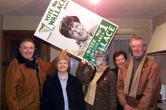 Brian McCionville, Ann O'farrell, Mary Gallagher, Eileen Prendergast and Paddy Traynor at the opening of the mary Wallace office in Bettystown..Picture Fran Caffrey Newsfile.
