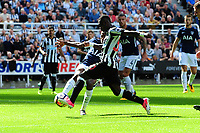 Christian Atsu of Newcastle United has a great chance for Newcastle United during Newcastle United vs Tottenham Hotspur, Premier League Football at St. James' Park on 13th August 2017