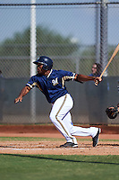 Milwaukee Brewers Malik Collymore (3) during an instructional league game against the Cleveland Indians on October 8, 2015 at the Maryvale Baseball Complex in Maryvale, Arizona.  (Mike Janes/Four Seam Images)