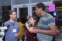 New York, NY, USA - December 12, 2017: Biobus Science Happy Hour and Holiday Party. Event held at Columbia University,  Zuckerman Institute, located at 3227 Broadway in New York City. Special speaker: Dr. Marcus Jones, Microbiologist and Senior Program Manager at Regeneron.