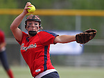 Coronado's Danielle Amato pitches against Centennial during the state championship softball game at the University of Nevada, Reno, in Reno, Nev., on Saturday, May 20, 2012. Centennial defeated Coronado 13-3 and 11-0 to win the 4A title..Photo by Cathleen Allison