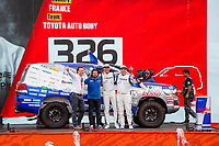 4th January 2020, Jeddah, Saudi Arabia; 326 Lavieille Christian fra, Garcin Jean-Pierre fra, Toyota, Toyota Auto Body, during the departure ceremony of the 2020 Dakar in Jeddah, Saudi Arabia on January 4th 2020