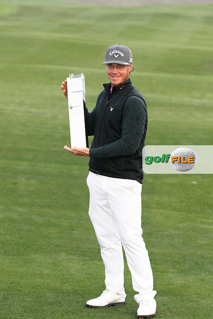 Kristoffer Broberg (SWE) winner of the BMW Masters, Lake Malarian Golf Club, Boshan, Shanghai, China.  15/11/2015.<br /> Picture: Golffile | Fran Caffrey<br /> <br /> <br /> All photo usage must carry mandatory copyright credit (&copy; Golffile | Fran Caffrey)