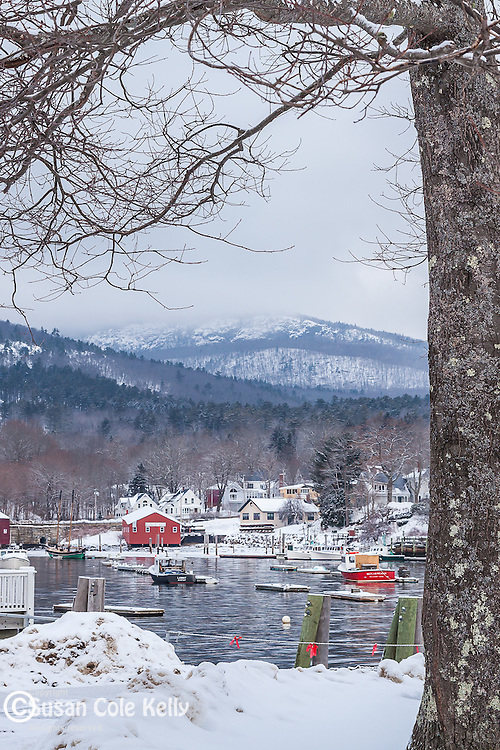 A winter day in Camden, ME, USA