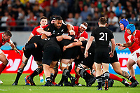 1st November 2019, Tokyo, Japan;  New Zealand team control the maul as they make yards on the push;  2019 Rugby World Cup 3rd place match between New Zealand 40-17 Wales at Tokyo Stadium in Tokyo, Japan.  - Editorial Use
