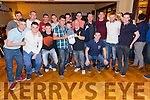 Pictured at the Devon Inn Hotel on Friday night was Kieran Wynne, Abbeyfeale. Kieran was celebrating his 40th birthday with friends and family. pictured centre with stripe shirt.