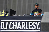 DJ Charlesy during The New Look Wireless Festival at Finsbury Park, London, England on 28 June 2015. Photo by Andy Rowland.