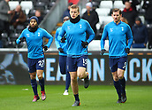 17th March 2018, Liberty Stadium, Swansea, Wales; FA Cup football, quarter-final, Swansea City versus Tottenham Hotspur; Eric Dier of Tottenham Hotspur warms up with teammates