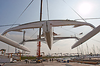New Gitana remodeled for training and testing Artemis Racing team to the next America's Cup