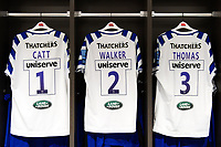 A general view in the away changing rooms at Ashton Gate Stadium. Gallagher Premiership match, between Bristol Bears and Bath Rugby on August 31, 2018 at Ashton Gate Stadium in Bristol, England. Photo by: Patrick Khachfe / Onside Images