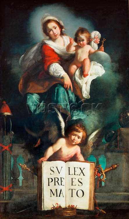 The Madonna of Justice by Strozzi, Bernardo (1581-1644) / Louvre, Paris / 1620-1625 / Italy, School of Genoa / Oil on canvas / Bible,Mythology, Allegory and Literature / 224x133 / Baroque