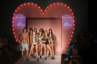 Models display the collection of underwear 2012 in The Colombian Brand Agua Bendita gangplank, in Colombiamoda 2012 in Medellin, Colombia. 26/07/2012. Photo by Fredy Amariles/VIEWpress.