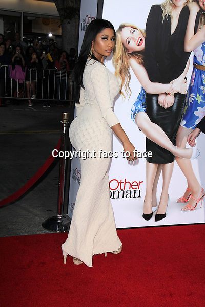 WESTWOOD, CA - April 21: Nicki Minaj at the &quot;The Other Woman&quot; Los Angeles Premiere, Village Theater, Westwood, April 21, 2014.<br />