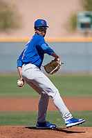Chicago Cubs starting pitcher Tyler Thomas (41) during a Minor League Spring Training game against the Los Angeles Angels at Sloan Park on March 20, 2018 in Mesa, Arizona. (Zachary Lucy/Four Seam Images)