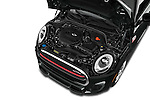 Car Stock2015 MINI Mini John Cooper Works 3 Door Hatchback Engine high angle detail view