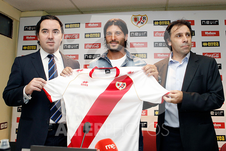 Rayo Vallecano's new player Alejandro Chori Dominguez during his official presentation. August 17, 2012. (ALTERPHOTOS/Acero)