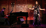 """Jason Wetzel and Lindsay Mendez during her """"Returns"""" press preview on October 3, 2018 at Feinstein's/54 Below in New York City."""