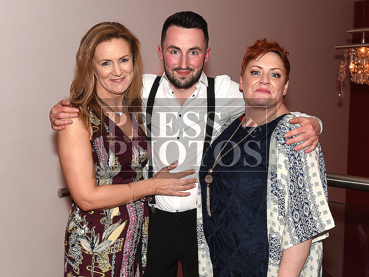 Cormac Stafford celebrating his 21st birthday in Brú with mother Cassandra Kirwan and godmother Diane Kirwan. Photo:Colin Bell/pressphotos.ie