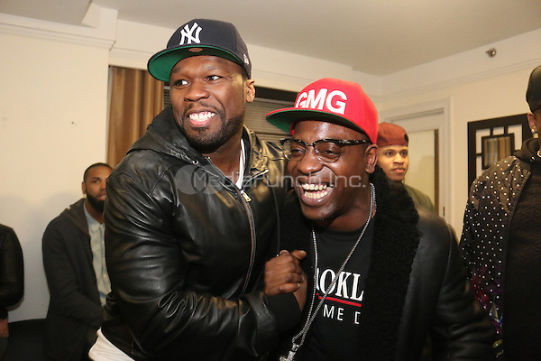 NEW YORK, NY - DECEMBER 18, 2012 50 Cent & Uncle Murda backstage at the The Breakfast Club 5th Anniversary, December 18, 2015 at Manhattan Center in New York City. Credit: Walik Goshorn/MediaPunch