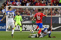 Harrison, NJ - Friday Sept. 01, 2017: Cristian Gamboa, Darlington Nagbe during a 2017 FIFA World Cup Qualifier between the United States (USA) and Costa Rica (CRC) at Red Bull Arena.