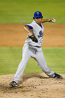 Joe Torres (24) of the Tulsa Drillers delivers a pitch during a game against the South All-Stars 2011 in the Texas League All-Star game at Nelson Wolff Stadium on June 29, 2011 in San Antonio, Texas. (David Welker / Four Seam Images)..