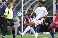 Carlo Costly keeps the ball in play. Honduras defeated Haiti 1-0 during the First Round of the 2009 CONCACAF Gold Cup at Qwest Field in Seattle, Washington on July 4, 2009.