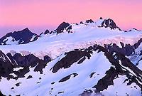 Mount Olympus at sunset, Olympic National Park, Washington