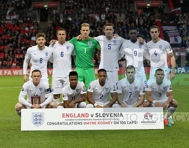 England's team shot<br /> <br /> - International European Qualifier - England vs Slovenia- Wembley Stadium - London - England - 15th November 2014  - Picture David Klein/Sportimage