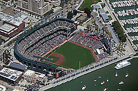 aerial photograph AT&T ball park Giant's stadium South Beach San Francisco, California