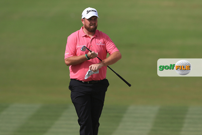 Shane Lowry (IRL) on the 3rd during Round 2 of the Omega Dubai Desert Classic, Emirates Golf Club, Dubai,  United Arab Emirates. 25/01/2019<br /> Picture: Golffile | Thos Caffrey<br /> <br /> <br /> All photo usage must carry mandatory copyright credit (&copy; Golffile | Thos Caffrey)