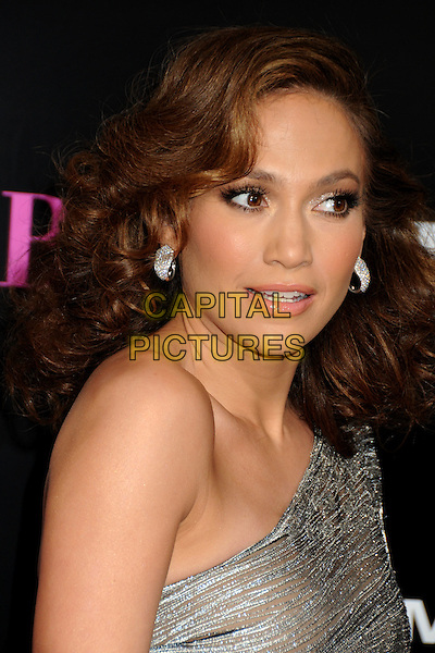 "JENNIFER LOPEZ .""The Back-up Plan"" Los Angeles Premiere held at the Regency Village Theatre, Westwood, California, USA, 21st April 2010..arrivals portrait headshot one shoulder silver  wavy hair earrings .CAP/ADM/BP.©Byron Purvis/AdMedia/Capital Pictures."