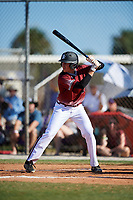 Vasili Kaloudis during the WWBA World Championship at the Roger Dean Complex on October 20, 2018 in Jupiter, Florida.  Vasili Kaloudis is a shortstop from Charlotte, North Carolina who attends Ardrey Kell High School.  (Mike Janes/Four Seam Images)