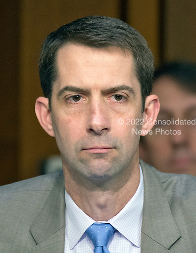 United States Senator Tom Cotton (Republican of Arkansas) listens to testimony before the US Senate Select Committee on Intelligence on the Russian intervention in the 2016 Presidential election on Capitol Hill in Washington, DC on Wednesday, June 28, 2017.<br /> Credit: Ron Sachs / CNP