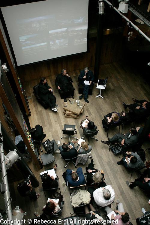 Emre Arolat, Suha Ozkan and Charles Jencks at the London Festival of Architecture, 2012