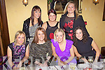Here Come the Girls: Party time for Abbeyfeale girls last Saturday night in Leen's Hotel, Abbeyfeale. l-r: Catriona Fitzgerald, Maria Flynn, Breda Riordan, Mary Mulcahy, Louise Ahern, Maura O'Connor, Aine O'Connor