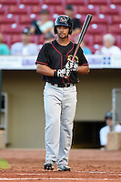 Quad Cities River Bandits outfielder James Ramsay (15) at bat during a game against the Cedar Rapids Kernels on August 18, 2014 at Perfect Game Field at Veterans Memorial Stadium in Cedar Rapids, Iowa.  Cedar Rapids defeated Quad Cities 5-3.  (Mike Janes/Four Seam Images)