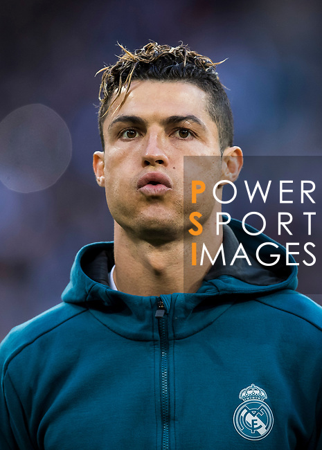 Cristiano Ronaldo of Real Madrid prior to the UEFA Champions League Semi-final 2nd leg match between Real Madrid and Bayern Munich at the Estadio Santiago Bernabeu on May 01 2018 in Madrid, Spain. Photo by Diego Souto / Power Sport Images