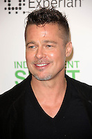 Brad Pitt<br /> at the 2014 Film Independent Spirit Awards Press Room, Santa Monica Beach, Santa Monica, CA 03-01-14<br /> David Edwards/Dailyceleb.com 818-249-4998