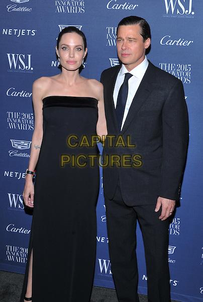 New York,NY-November 4: Angelina Jolie Pitt, Brad Pitt  attend the WSJ. Magazine 2015 Innovator Awards at the Museum of Modern Art on November 4, 2015 in New York City. <br /> CAP/MPI/STV<br /> &copy;STV/MPI/Capital Pictures