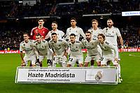 Real Madrid's team photo during La Liga match between Real Madrid and Valencia CF at Santiago Bernabeu Stadium in Madrid, Spain. December 01, 2018. (ALTERPHOTOS/A. Perez Meca) /NortePhoto NORTEPHOTOMEXICO